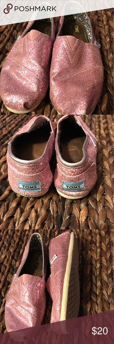 Pink Glitter Toms Pink glitter Toms TOMS Shoes Sneakers
