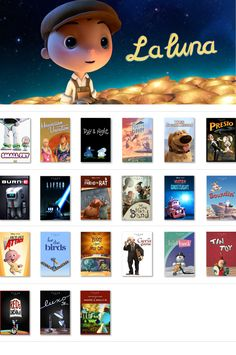 Pixar Short films... I haven't seen all of these! I need to catch up.