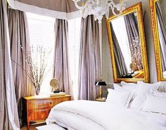 gray and gilded gold for bedroom