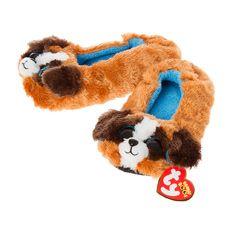 Ty Beanie Boo Duke the Dog Slipper Socks