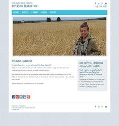 Diversion Traduction a créé son propre site Web avec Mon site Primo