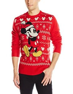 Disney Men's Mickey Mouse Ugly Christmas Sweater at Amazon Men's Clothing store: