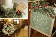 Holiday-themed Christmas wedding with red and green colors in a Georgia antebellum mansion, photographed by Andie Freeman Photography | The Pink Bride www.thepinkbride.com