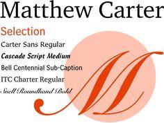 Matthew Carter Selection