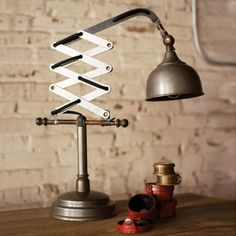 Industrial Accordion Table Light