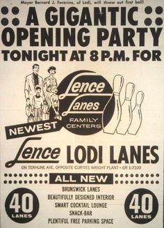 Lence Lanes in Lodi NJ 1962