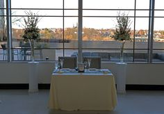 Venue with a view :) Sweetheart Table at Le Meridien Arlington. Flowers by Conklyn's.