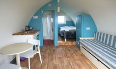 Inside the 'blue' #glamping Unit...