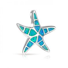 Bling Jewelry Blue Opal Nautical Starfish Pendant Hawaiian Jewelry 925 Sterling Opal Necklace, Opal Jewelry, Bling Jewelry, Pendant Jewelry, Jewlery, Nautical Pendants, Hawaiian Jewelry, Cheap Jewelry, Jewelry Ideas