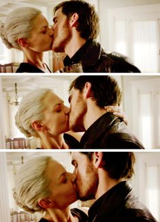This was one heck of a Captain Swan kiss, but I was so torn. I was like awwwwww, my babies haven't kissed in like forever. But then I was inwardly screaming for Hook to stop because she's the Dark One. Uggggggh, this OTP does stuff to me and my feels.