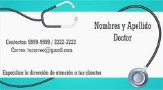 #espaciohonduras Tarjetas de Presentación Doctor   http://www.espaciohonduras.net/tarjetas-de-presentacion-para-doctor