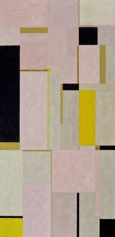 Inés Bancalari Amarillo, Rosa y Negro II, 2011 Oil on fiberboard 49 × 23 in 124.5 × 58.4 cm