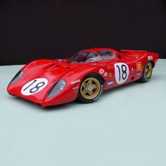 Ferrari 312 P Le Mans 1969 Model in 1/12 scale. Available in kit or handbuilt. Creation Profil 24 models