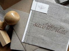 Linen-Fabric-Stitched-Save-the-Dates- my fav by far that I have seen in the past month. Amazing.