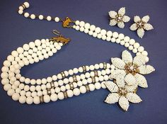 Vintage JONNE by Schrager Necklace and Earrings Set – Vintage Demi Parure Jewelry