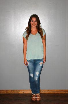 Heathered Top - Mint - Trendy Ragz Boutique