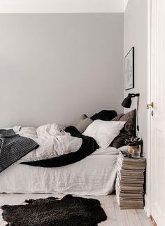 A Cozy Grey Scandinavian Studio Apartment (Gravity Home) Room Ideas Bedroom, Bedroom Inspo, Dream Bedroom, Home Decor Bedroom, Gravity Home, Asian Home Decor, Aesthetic Bedroom, Minimalist Bedroom, Bedroom Styles