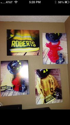 44 New Ideas Wall Picture Bedroom Diy Canvases Firefighter Bedroom, Firefighter Family, Firefighter Paramedic, Firefighter Decor, Firefighters Wife, Firefighter Wedding, Female Firefighter, Volunteer Firefighter, Firemen