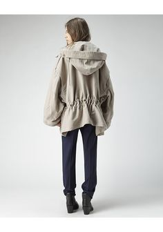 ACNE STUDIOS | Ego Drawstring Parka | Shop at La Garçonne