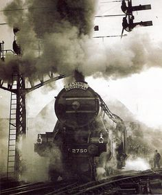 The Flying Scotsman in the [Previous pinner said: Mum moved to Scotland on this train in the Diesel Locomotive, Steam Locomotive, Headshot Photography, Photography Studios, Photography Marketing, Photography Backdrops, Moving To Scotland, Old Steam Train, Flying Scotsman