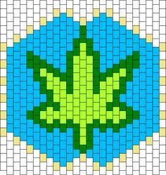 Pot Leaf Face Mask bead pattern