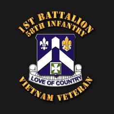 Check out this awesome '1st+Bn+-+58th+Infantry+-+Vietnam+Vet' design on @TeePublic!