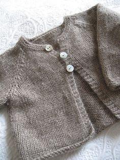 Ravelry: Cardigan raglan knit (Tout doux en Cashmere) pattern by La Droguerie