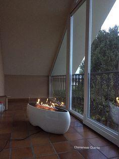 https://flic.kr/p/QfX7Bk | Chimenea de biotanol, modelo Zen | www.quento.es  Showroom Crta. Santiago-Pontevedra a 9 Km. de Santiago de Compostela en dirección a Pontevedra. 15.866 Ameneiro-Teo (La Coruña) España.