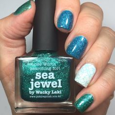 Picture Polish Sea Jewel and Ocean stamping by Aggies Do It Better
