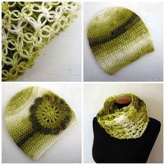 Zelené zbarvení(sada nákrčník + čepice)