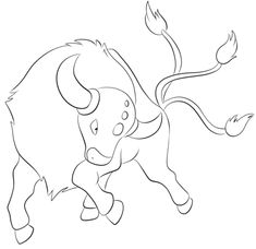 Tauros Coloring page