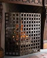 Old World Gothic Iron Firescreen