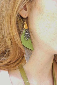 Bohemian Statement Jewelry Boho Fashion Leather and by zozichic, $67.00