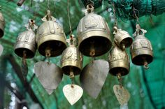 Bells at a Thai Buddhist temple