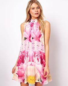 a5fd3bb0fd23 Ted Baker Aliah Floral Swing Dress Pink Floral Dress