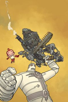My favorite kaiju-fighting team, The Big Guy and Rusty the Boy Robot, lead off these highlights from Dark Horse Comics' solicitations for August 2014. Read on for an advance at Dragon Age, Conan, Star Wars, and...a Game of Thrones lunchbox. Star Wars Legacy #18 cover by Agustin Alessio.