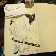排隊之後是號碼牌,下次不敢在最後一天看展了(驚嚇)#第333po 一月#每日一更 達成🙌 #murmur #vscocam #urbansketch #urbansketchers #moleskine #sketchbook #sketch #diary #drawing #art #painting #linedrawing #black #sketchoftheday #dailysketch #stationery #park #taiwan #文房具 #橘枳 #繪日記 #絵日記 #手帳 #橘逾淮為枳 #公園