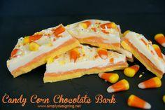 Candy Corn Bark #halloween #recipes #fall