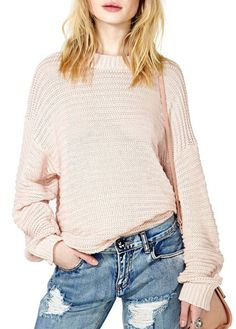 Enchanting Long Sleeve Round Neck Knitting Wool Sweaters | Rosewe.com