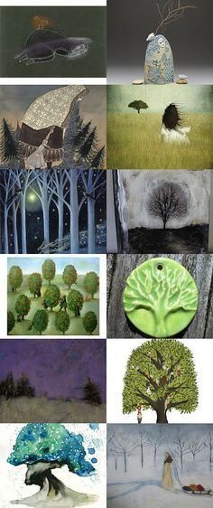 """""""They took all the trees..And put them in a tree museum"""" - Fav #Etsy Treasury"""