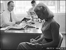 Secretary taking shorthand