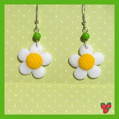 fimo earrings, cute :)