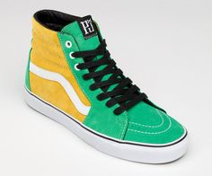 c212782d7d50 Pearl Jam Limited Edition Vans in Kelly Green and Yellow