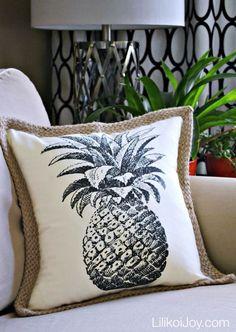 DIY Tropical Pineapple Pillow
