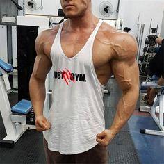JUST GYM Men's Bodybuilding Fitness Gym Muscle Tank Top | Vest | Stringer | Y-Back Bodybuilding For Beginners, Men's Bodybuilding, Bodybuilding Workouts, Gym Tank Tops, Muscle Tank Tops, Summer Tank Tops, Sixpack Boys, Six Pack Abs Men, Body Building Men