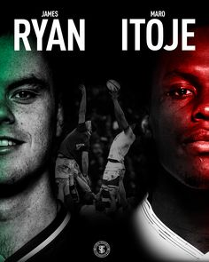 James Ryan of Ireland and Maro Itoje of England. two rugby up and comers Sports Graphics, Rugby, Ireland, Rugby Sport, Irish, Football