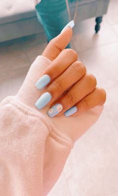 91 simple short acrylic summer nails designs for 2019 page 13 Summer Acrylic Nails, Best Acrylic Nails, Acrylic Nail Designs, Summer Nails, Summer French Nails, Nagellack Trends, Fire Nails, Dream Nails, Stylish Nails