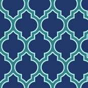 moroccan quatrefoil lattice in peacock