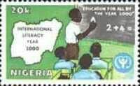 International Literacy Year Stamp