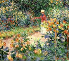 ⊰ Posing with Posies ⊱ paintings of women and flowers - Monet's Garden at Giverny, 1895